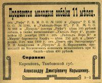 объявление Нарышкина